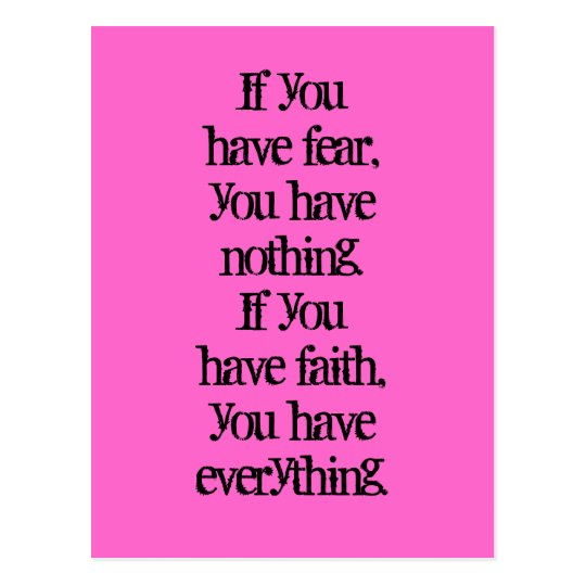 Faith and fear positive thinking law of attraction