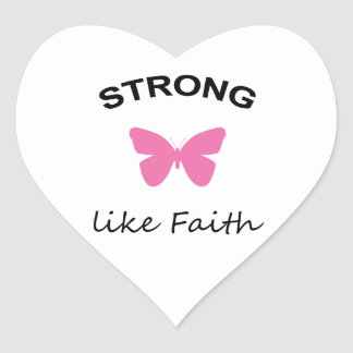 Faith and Folly and Cupcake Heart Sticker