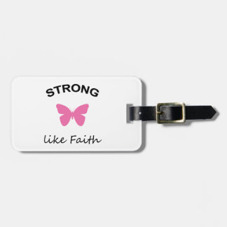 Faith and Folly and Cupcake Luggage Tag