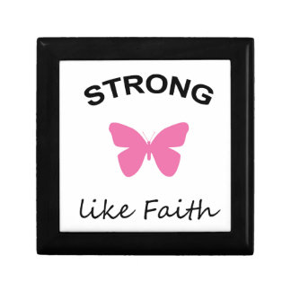 Faith and Folly and Cupcake Small Square Gift Box