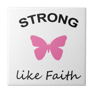Faith and Folly and Cupcake Small Square Tile