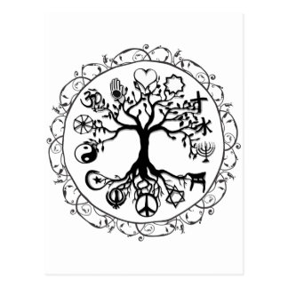 Faith and Love Tree of Life Postcard