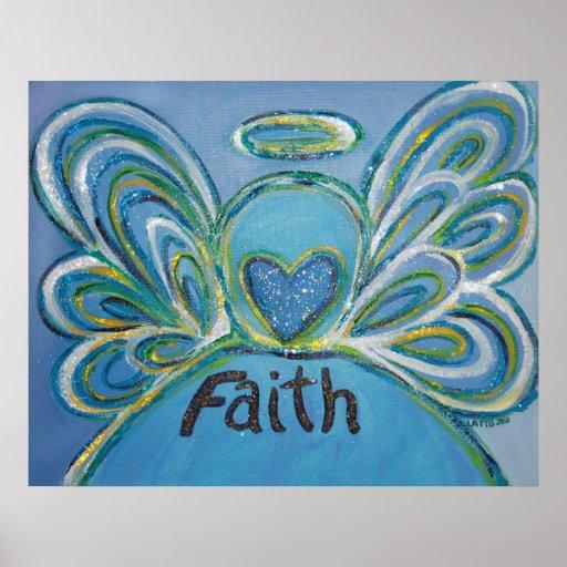 Faith Angel Art Poster Print
