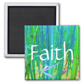 Faith Bamboo Blue and Green Magnet