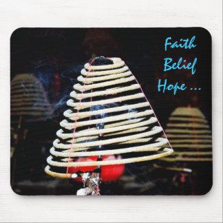 Faith ,Belief , Love ! Mousepads