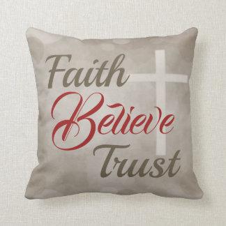 Faith Believe Trust Decorative Pillow