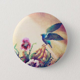 Faith Bird 6 Cm Round Badge