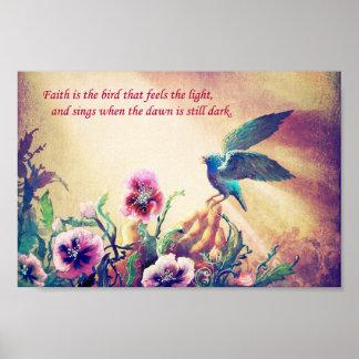 Faith Bird Poster