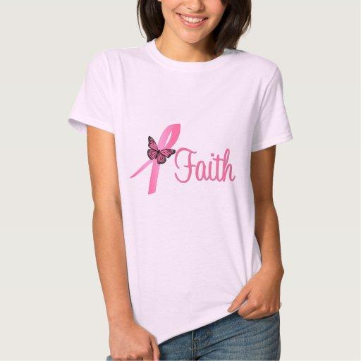 Faith Breast Cancer Awareness T Shirt
