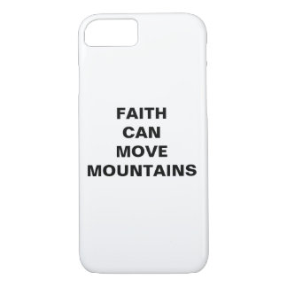 """Faith Can Move Mountains"" Apple iPhone 8/7 Case"