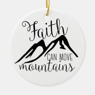 faith can move mountains christmas ornament