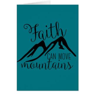 faith can move mountains greeting card