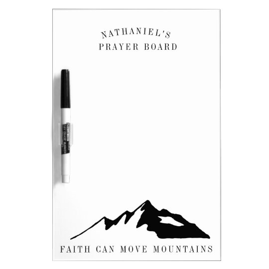 Faith Can Move Mountains Personalised Prayer Board