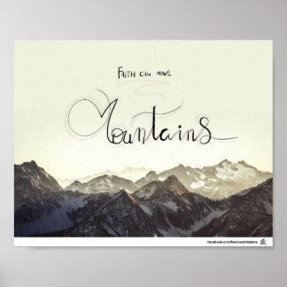 Faith can move mountains poster