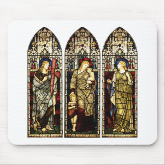 FAITH CHARITY AND HOPE DESIGNER T-SHIRT MOUSE PAD