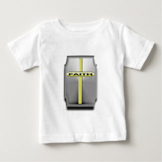 FAITH Christian Cross Silver and Gold SHIELD T-shirt