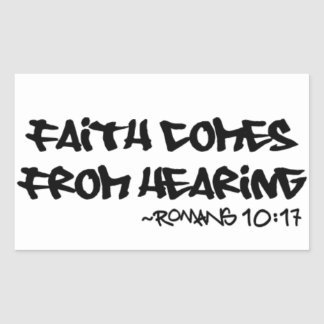 Faith Comes From Hearing Sticker Romans 10:17
