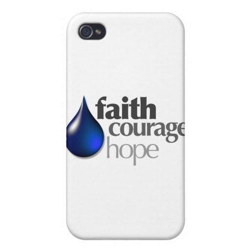 Faith - Courage - Hope Case For iPhone 4