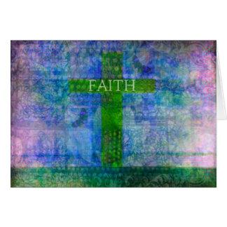 FAITH CROSS Meaningful Art Greeting Card