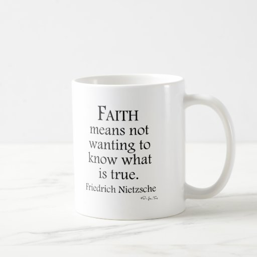 Faith Defined By Nietzsche Basic White Mug
