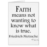 Faith Defined By Nietzsche Greeting Card