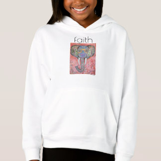 Faith Elephant Art Girl's Fleece Pullover
