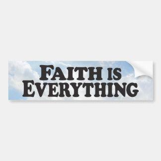 Faith Everything - Bumper Sticker Car Bumper Sticker