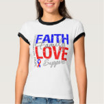 Faith Family Collage Pulmonary Fibrosis T Shirt