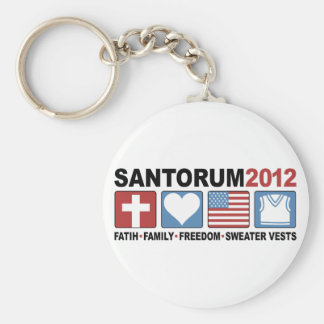Faith, Family, Freedom and Sweater Vests Basic Round Button Key Ring