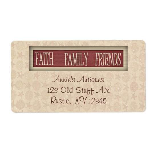 Faith Family Friends Business Label Shipping Label