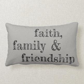 Faith, family & friendship pillow