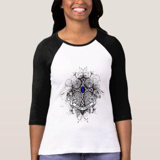 Faith Family Prayer Cross - Anal Cancer Tshirts