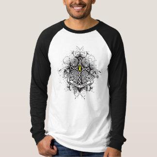 Faith Family Prayer Cross - Bladder Cancer T-shirt