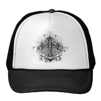 Faith Family Prayer Cross - Bone Cancer Trucker Hat