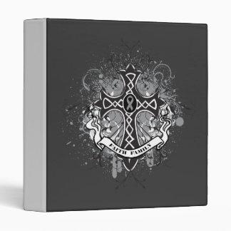 Faith Family Prayer Cross - Brain Cancer Vinyl Binder