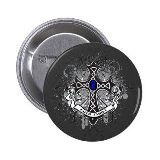 Faith Family Prayer Cross - Colon Cancer 6 Cm Round Badge