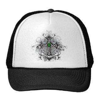Faith Family Prayer Cross (Green)  - Kidney Cancer Trucker Hat