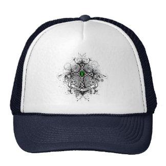 Faith Family Prayer Cross (Green)  - Kidney Cancer Hats