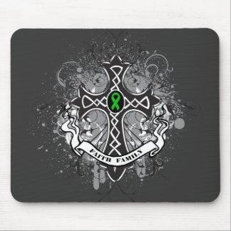 Faith Family Prayer Cross (Green)  - Kidney Cancer Mouse Pad