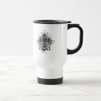 Faith Family Prayer Cross (Green)  - Kidney Cancer Coffee Mug