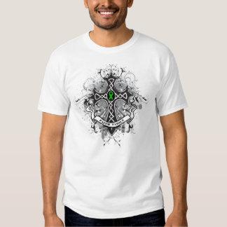 Faith Family Prayer Cross (Green)  - Kidney Cancer Shirts