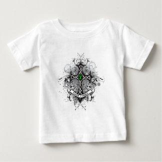 Faith Family Prayer Cross (Green)  - Kidney Cancer T Shirts