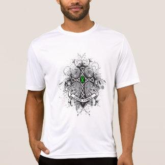 Faith Family Prayer Cross (Green)  - Kidney Cancer Tshirts