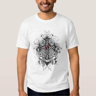 Faith Family Prayer Cross - Oral Cancer T Shirt