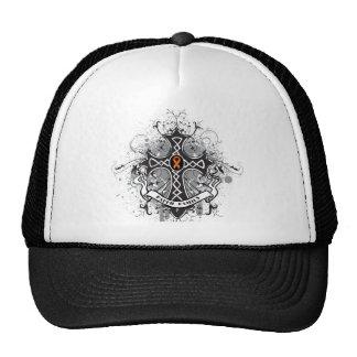 Faith Family Prayer Cross (Orange) - Kidney Cancer Cap