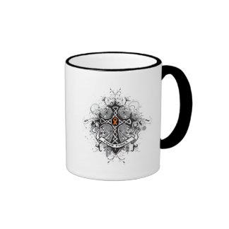 Faith Family Prayer Cross (Orange) - Kidney Cancer Ringer Coffee Mug
