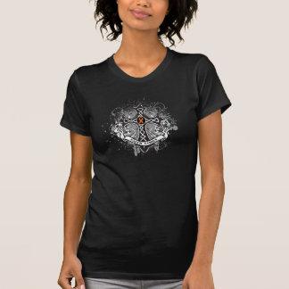 Faith Family Prayer Cross (Orange) - Kidney Cancer Tee Shirt