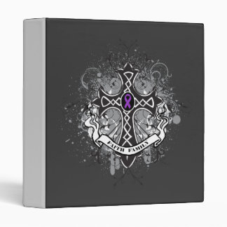 Faith Family Prayer Cross - Pancreatic Cancer Binders