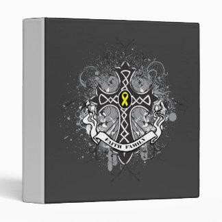 Faith Family Prayer Cross - Sarcoma Vinyl Binders