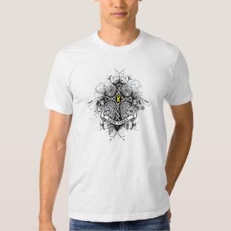 Faith Family Prayer Cross -Testicular  Cancer Shirt